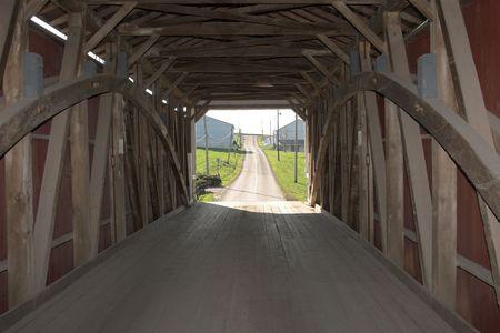 Covered bridge, Lancaster county Pennsylvania  photo
