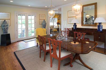 elegant, well decorated diningroom photo