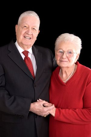 distinguished: distinguished old couple, formal portrait