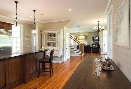 floorplan: luxury home with open floorplan in rustic style