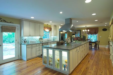 large open kitchen and diningroom photo