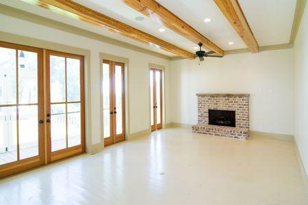 bright modern rustic unfurnished livingroom photo