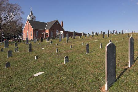 Historic church, amish country, pennsylvania