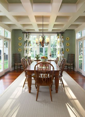 diningroom: beautiful diningroom with architectural elements
