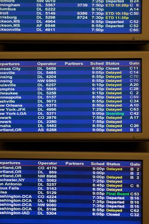 delays: airline arrival and departure schedule with delays