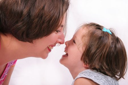 mother and daughter rubbing noses Stock Photo - 2416114