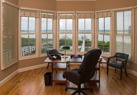 office with view of the harbor