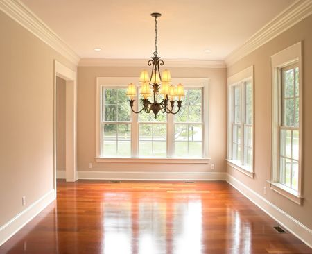unfurnished dining room, place your own furniture