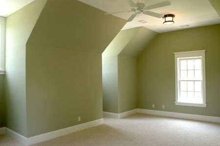 unfurnished upstairs bedroom, place your own furniture