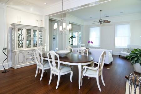 luxury apartment diningroom and livingroom