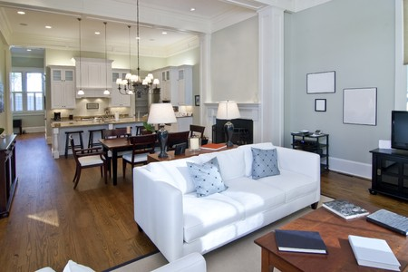 luxury studio apartment, open floorplan design