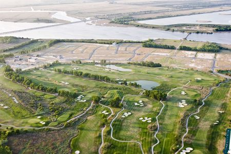 new development and golf course on island photo