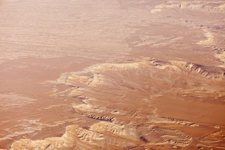 aerial animal: aerial view of Sahara desert in Egypt Stock Photo