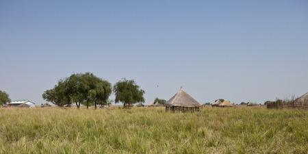 south space: rural village in south sudan, panoramic shot