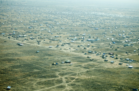 south sudan: aerial view of Juba, capital of South Sudan Editorial