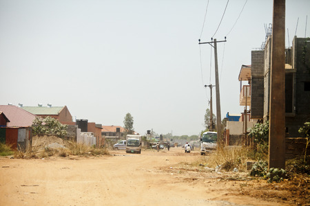 south africa soil: street scene in Juba, capital of South Sudan Editorial