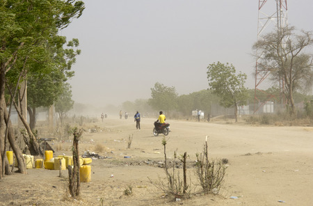 south africa soil: dust storm in Bor, South Sudan