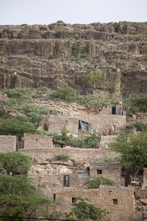 dire: Stone cliff dwellings in Dire Dawa Ethiopia Stock Photo
