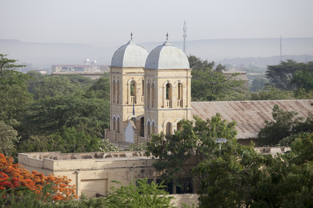 dire: Spires of Ethiopian Orthodox church in Dire Dawa Ethiopia