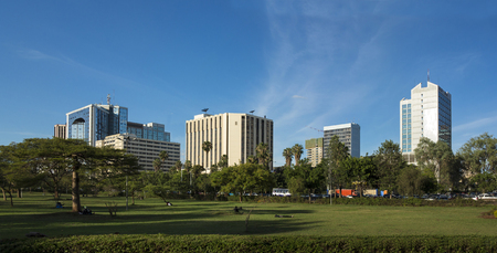 panorama of downtown area of Nairobi, Kenya Standard-Bild