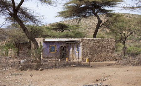 dire: Simple home in the desert of eastern Ethiopia near Somalia