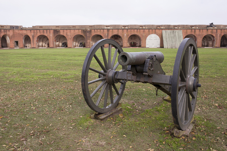 the 19th century: 19th century cannon at Fort Pulaski, Georgia