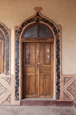 holiest: Traditional carved door in Harar, Ethiopia, Islams fourth holiest city.