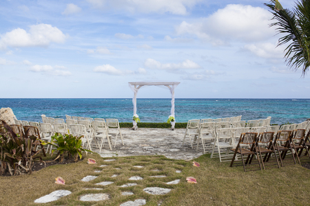 wedding site overlooking the caribbean