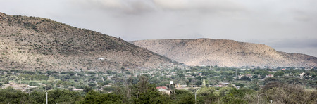dire: 180 degree panorama of Dire Dawa, Ethiopia Stock Photo