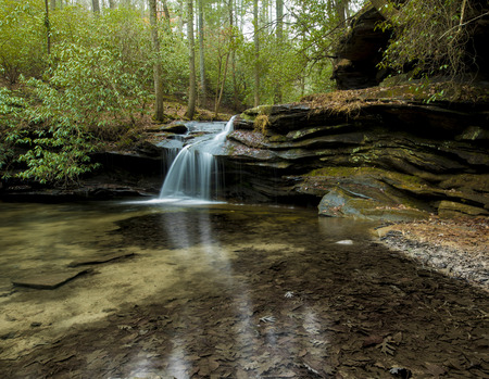 Waterfall and pond in Table Rock State Park, South Carolina