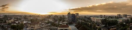 overhead panorama on Addis Ababa, Ethiopia