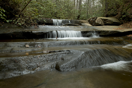 Cascade of water in Table Rock State Park, South Carolina