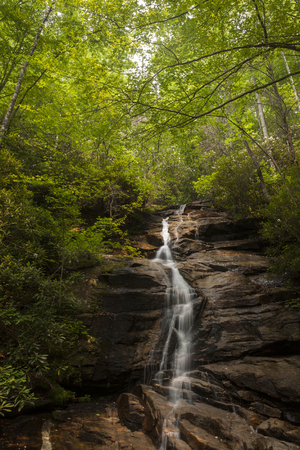 Waterfall in the Appalacian Mountains of South Carolina Stock Photo