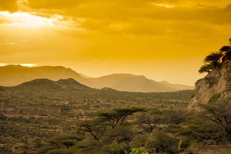 ソマリア近くのエチオピア東部の砂漠 写真素材