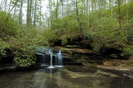 Waterfall in the forest in Table Rock State Park, South Carolina