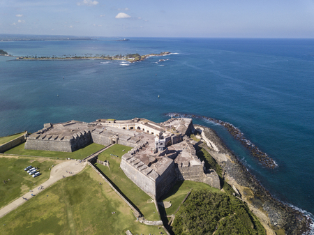 Aerial view of El Morro fortress in San Juan, Puerto Rico.