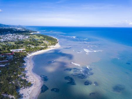 Luftaufnahme von Resorts in Puerto Plata in der Dominikanischen Republik Standard-Bild