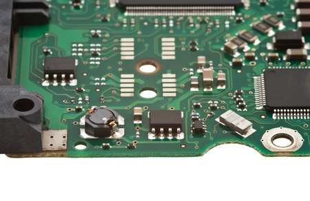 Computer board, isolated on white photo