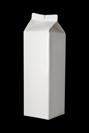 Milk Box per liter, isolated on black