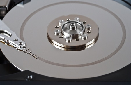 Open defective hard disk drive photo