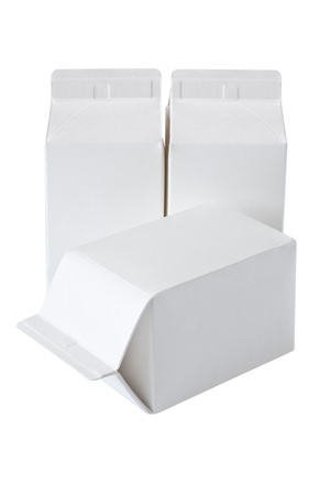 Milk Box per half liter, isolated on white background Stock Photo