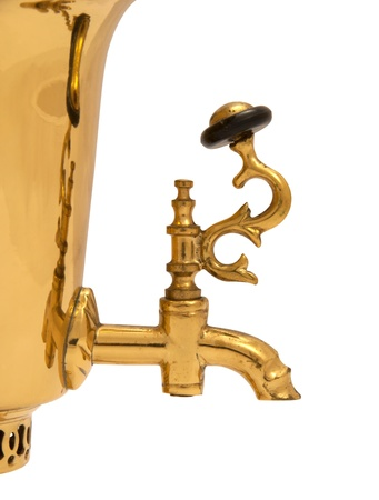 Tap of old russian bronze samovar