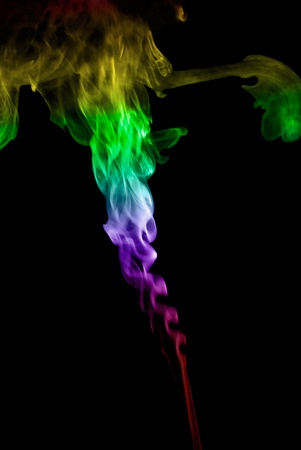 colored smoke: Colored smoke isolated on black