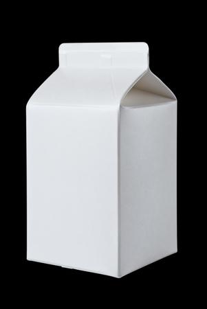 Milk Box per half liter, isolated on black background