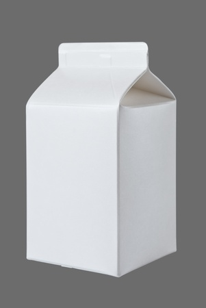 Milk Box per half liter, isolated on gray background photo