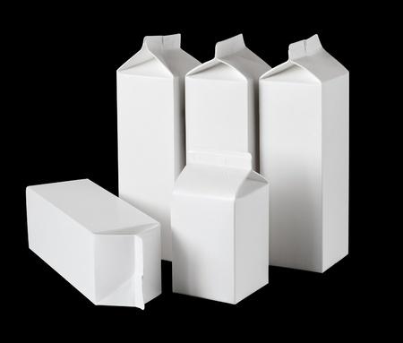 Milk Box per half liter, isolated on black bachground
