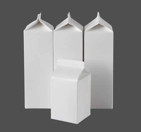 Milk Box per liter, isolated on gray background photo
