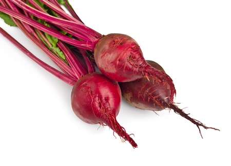 beet with leaves isolated on white background photo