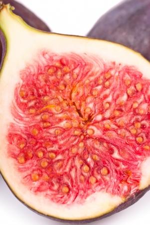 Fresh figs macro on a white background  Stock Photo