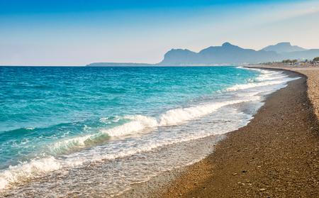 Afandou (Afantou bay) beach, Rhodes island, Greece Stock Photo